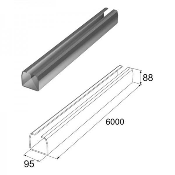 Балка прокатная х/к 95×88×5, L-6000мм