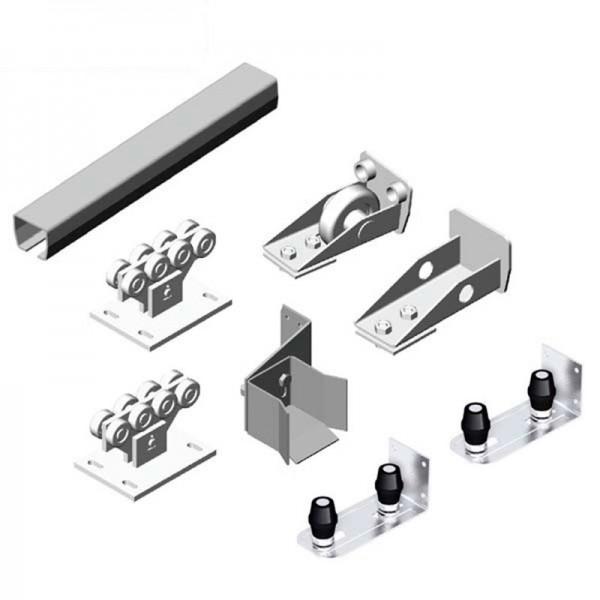 Комплект для откатных ворот весом до 500 кг. х/к 71х60х3,5 L=6000мм