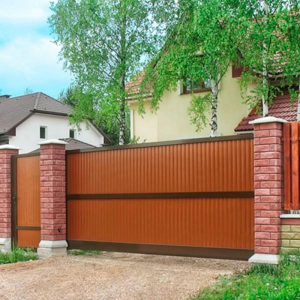 Откатные ворота Alutech ASD 400 3500x2085 мм