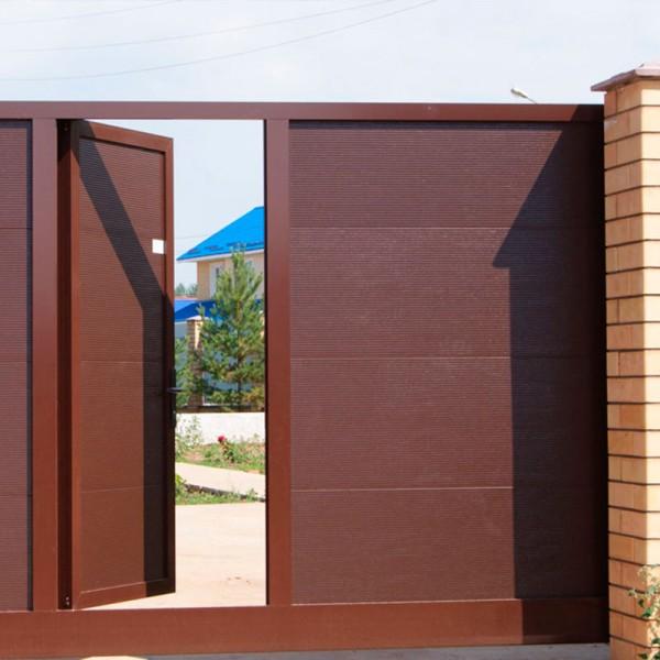 Откатные ворота Alutech ASD 400 3500x2460 мм
