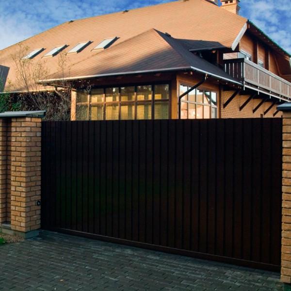 Откатные ворота Alutech ASD 400 4000x2210 мм