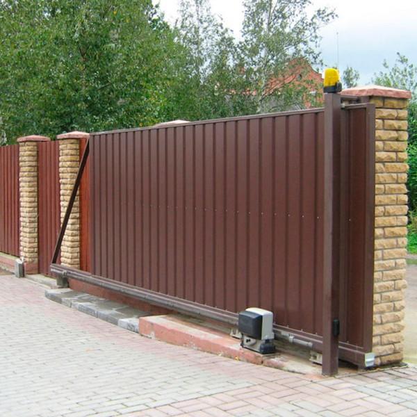 Откатные ворота 3000x2250 мм (3х2,25 м)