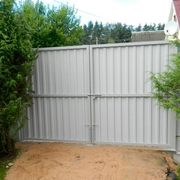 Распашные ворота 3500x2500 мм (3,5х2,5 метра)