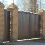 Распашные ворота 3500x3000 мм (3,5х3 метра)
