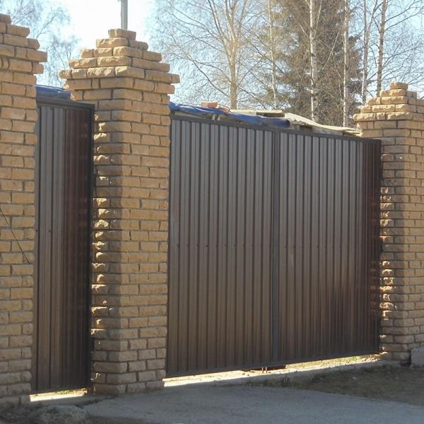 Распашные ворота 3500x2750 мм (3,5х2,75 метра)